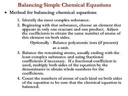 70 balancing simple chemical equations