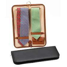 italian leather tie case hover to zoom