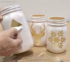 DIY Christmas Luminaries with Mason Jars and Modern Masters Metallic Paint  | How-to DIY