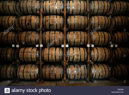 oak barrels stacked top. Oak Barrels Stacked Top. Wooden Whiskey In Lynchburg, Tennessee, USA - Stock Top
