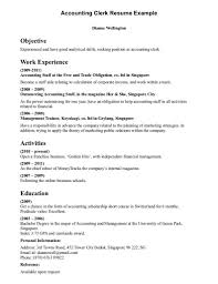 Clerical Resume Objective Bestresume Com
