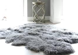 faux fur rug white