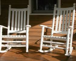 image of white front porch rocking chairs