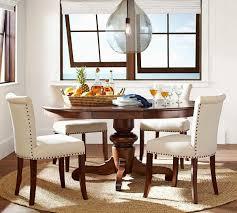 pottery barn round kitchen table new tivoli extending pedestal dining table tuscan chestnut