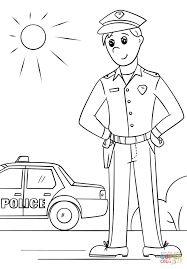 Small Picture Police Officer coloring page Free Printable Coloring Pages