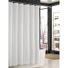 extra long white waffle shower curtain shower curtains design