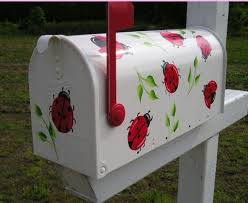 painted mailbox designs. Ladybug: Mailbox Painted Designs A