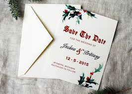 Christmas Wedding Save The Date Cards Christmas Wedding Save The Date Cards Mistletoe Wedding Etsy