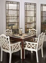 chinese chippendale chairs around a square game table really pretty mirrored panels similar to
