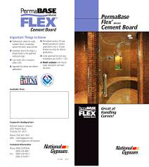Permabase Flex Cement Board National Gypsum Pdf Catalogues