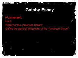 gatsby essay powerpoint presentation