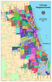 the official map of chicago neighborhoods  chicago architecture