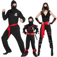 Ninja Suit Size Chart Us 21 93 31 Off Halloween Masked Warrior Costume Role Play Black Ninja Suit Stage Costume Lover Ninja In Anime Costumes From Novelty Special Use