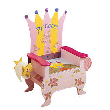 com teamson kids princess potty chair with book holder and toilet paper holder toys