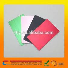 Wholesales Anodized Aluminum Business Card Blank Aluminum Card Color