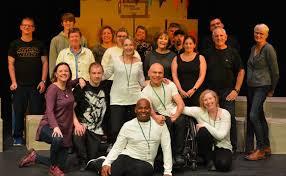 Creative team of Occupation by Pauline Heath. Photo © Black Robin -  Disability Arts Online