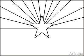 Small Picture Arizona State Flag Coloring Pages USA for Kids
