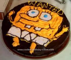 Easy Homemade Spongebob Birthday Cake Design