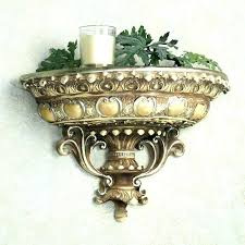 wall sconces shelf sconce shelves baroque pair decorative sc lily pad shelf traditional display and wall shelves throughout sconce