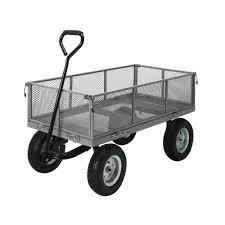 garden cart. Heavy Duty Garden Cart Wagon Trolley