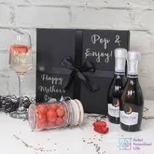 what better way to say happy mother s day with a prosecco her for the special women in your family the black gift box is personalised with happy