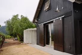architectures exciting modern barn home design ideas cool interior lighting green grass fields sliding wooden