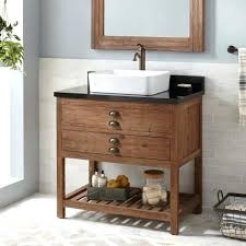 bathroom vanities with vessel sink reclaimed wood vessel sink vanity pine bathroom vanities wood pedestal glass