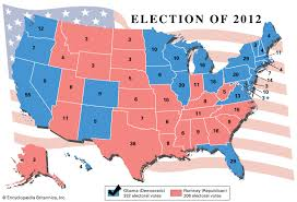 2012 Election Chart United States Presidential Election Of 2012 United States