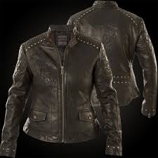 affliction woman leather jacket loves me not black