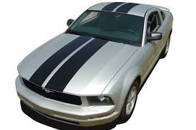 2005 Mustang Color Chart 2005 2009 Ford Mustang Wildstang Racing Stripes And Rally Hood Vinyl Graphics Decals Kit