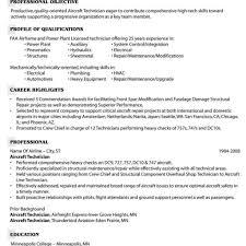 Mechanic Resume Template Assembly Technician Resume Resume Templates Aircraft Mechanic 44