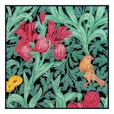 William Morris Textile Designs William Morris Iris 3 Red From Textile Design Counted Cross