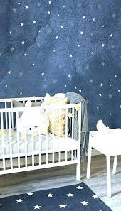 stars crib bedding nursery set blue baby moon