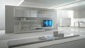 White Living Room Storage Cabinets Furniture Clean White Modern Storage Wall Unit Save The Small