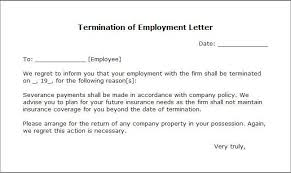 sample letters of termination printable sample letter of termination form laywers template forms