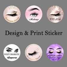 Eye Makeup Sticker Designs Us 22 0 Customize Logo Edit Picture Print Sticker Professional Design And Print Servie For Eyelash Store Or Beauty Salon In Eye Shadow Applicator