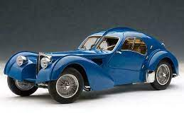 This perfect 1:8 scale recreation of the bugatti 57sc atlantic is modelled on chassis 57374 as it was originally delivered to victor rothschild, 3rd. Autoart 1 18 Bugatti Type 57sc Atlantic 1938 Blue Wire Spoke Wheels Fini Hx6 For Sale Online Ebay