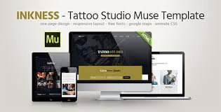 Muse Website Templates Best Inkness Tattoo Studio Muse Template By Fadeink ThemeForest