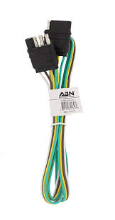 amazon com abn trailer wire extension, 4' foot, 4 way 4 pin plug 4 pin flat trailer wiring harness at 4 Flat Trailer Wiring Harness