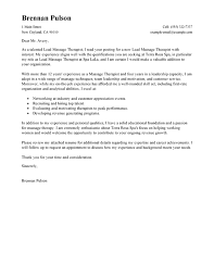 Best Lead Massage Therapist Cover Letter Examples Livecareer