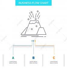 Disaster Eruption Volcano Alert Safety Business Flow Chart D