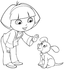 Small Picture Image Cartoon dora the explorer and friends coloring pages for