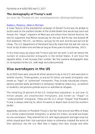 the demography of trump s wall pdf available