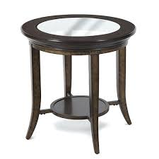 home parsons transitional cognac and antique bronze round end table feet styles