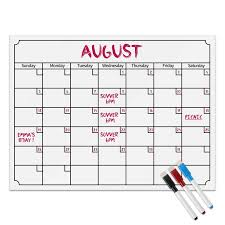 Monthly Chart Us 9 09 40 Off Magnetic Refrigerator Note Calendar Week Monthly White Board Wall Sticker Chart Grocery List Kitchen Gift Set Planners In Wall