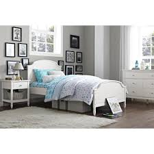 Dorel Living Vivienne Twin Size Wooden Bed Frame in White-FH1010TB ...