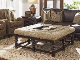 Amazing Tommy Bahama Living Room Furniture Using Tufted Ottoman
