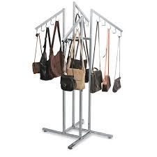 handbag rack with waterfall j hook arms