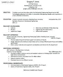 Good Resume Objective Statement Resume Examples Simple Resume