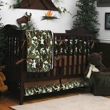baby boy hunting nursery ideas green camo 3 piece crib bedding set carousel designs